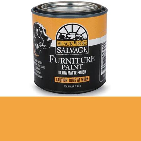 'Caution: Dogs at Work' - Orange  Furniture Paint, 1/2 Pint