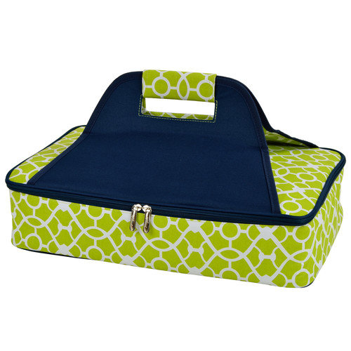 Picnic at Ascot Trellis Green Insulated Casserole Carrier  (530-TG)