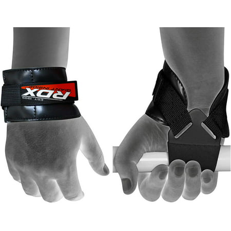 RDX Weight Lifting Grips Training Gym Bar Straps Gloves Wrist Support Workout