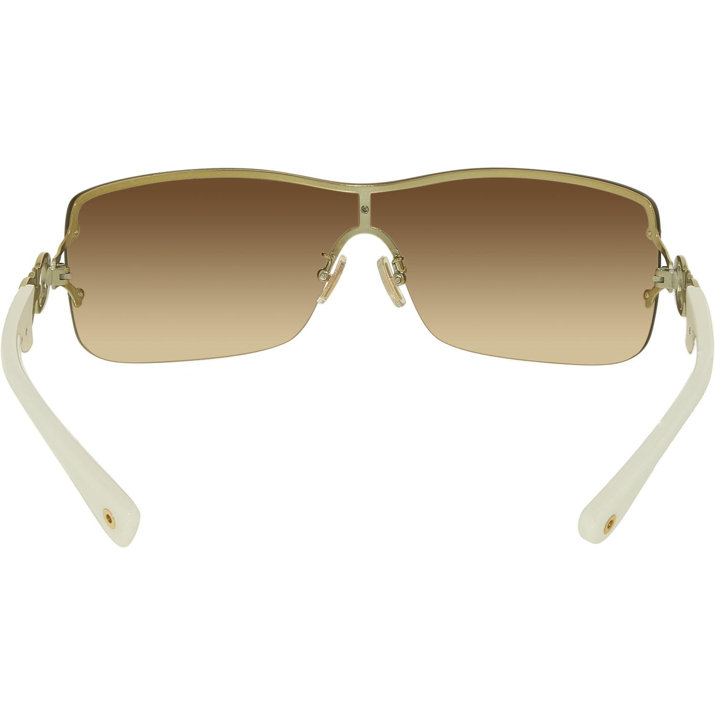 bdaa3d5509 Coach - Coach Women s Gradient Noelle HC7018-911813-38 White Shield  Sunglasses - Walmart.com