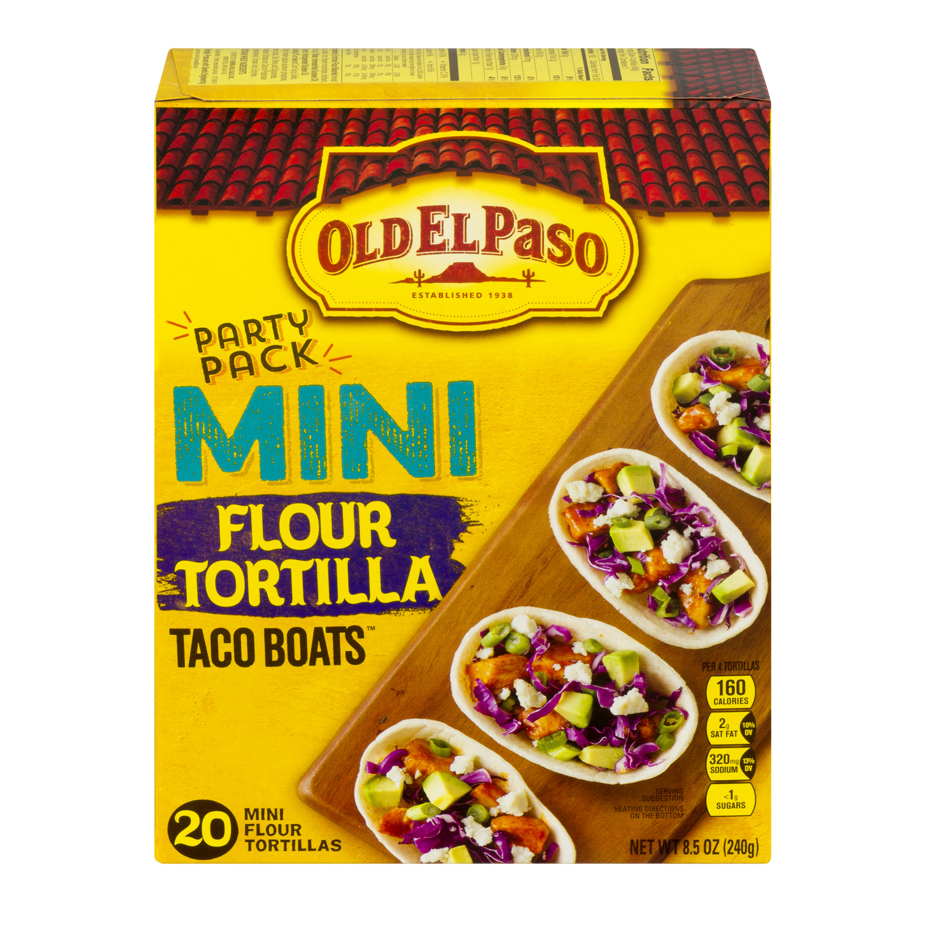 Old El Paso™ Taco Boats Mini Flour Tortillas 20 ct Pack
