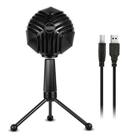 Cardioid Desktop Microphone - MODAR USB Cardioid Microphone Stand, Studio Broadcasting Recording Condenser Mic Desktop Professional with LED Power Indicati