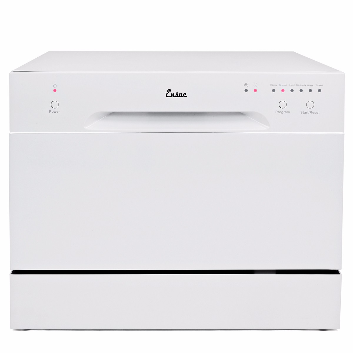 Ensue Countertop Dishwasher Energy Star Certified 6-Place 6-Program Setting, White by Ensue