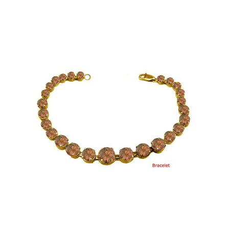 June Birthstone Prong Set Smokey Quartz Bracelet 18kt Yellow Gold over Sterling Silver - image 2 of 2
