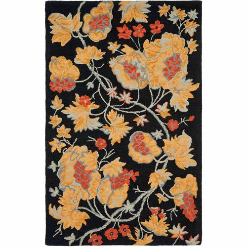 Safavieh Blossom Kimmee Wool Area Rug, Black/Multi