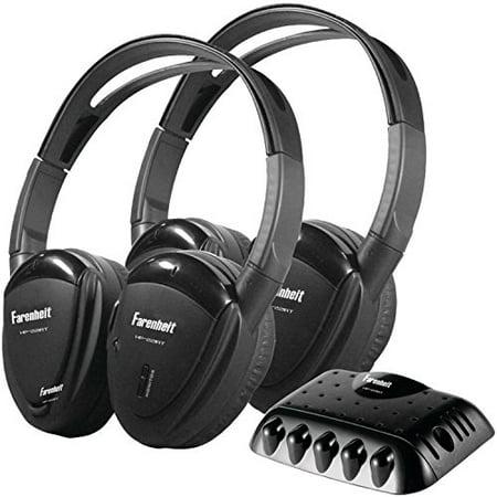 Transmitter Single - Power Acoustik Farenheit HP-22IRT 2 Swivel Ear Pad Single Channel Infrared Wireless Headphones with Transmitter