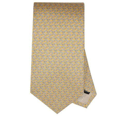 Ferragamo Necktie (Salvatore Ferragamo Men's Yellow Golf Neck Tie )
