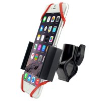 Heavy Duty Rugged Bike or Motorcycle Handlebar Mount with Metal Clamp fits CoolPad Catalyst with any cover on it.