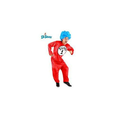 Dr. Seuss Thing 1 & 2 Costume Adult Small/Medium - Thing One Thing Two
