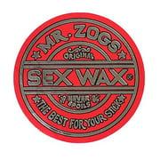 "Mr. Zoggs SEX WAX STICKER 3"" CIRCULAR METALLIC RED"