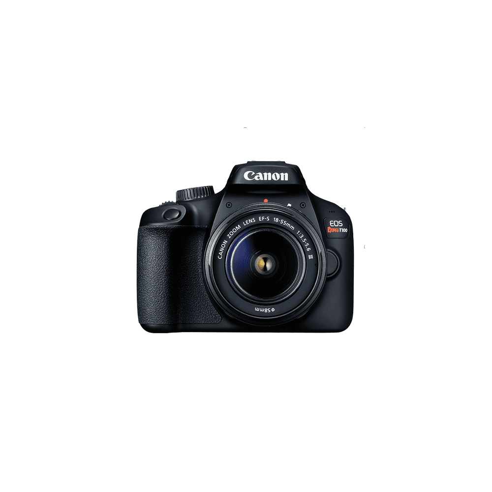 Canon EOS Rebel T100 Digital SLR Camera with 18-55mm Lens Kit, 18 Megapixel Sensor, Wi-Fi, DIGIC4+ and Live View Shooting