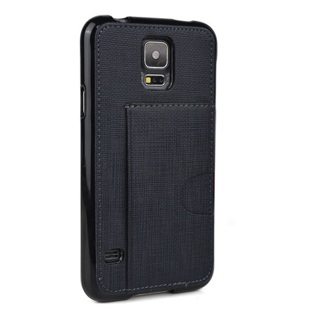Samsung Super Slim (Kroo  Samsung Galaxy S5 Synthetic Leather Super-slim Phone Case Black)