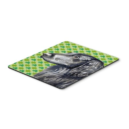 Flat Coated Retriever St. Patrick's Day Shamrock Mouse Pad, Hot Pad or Trivet