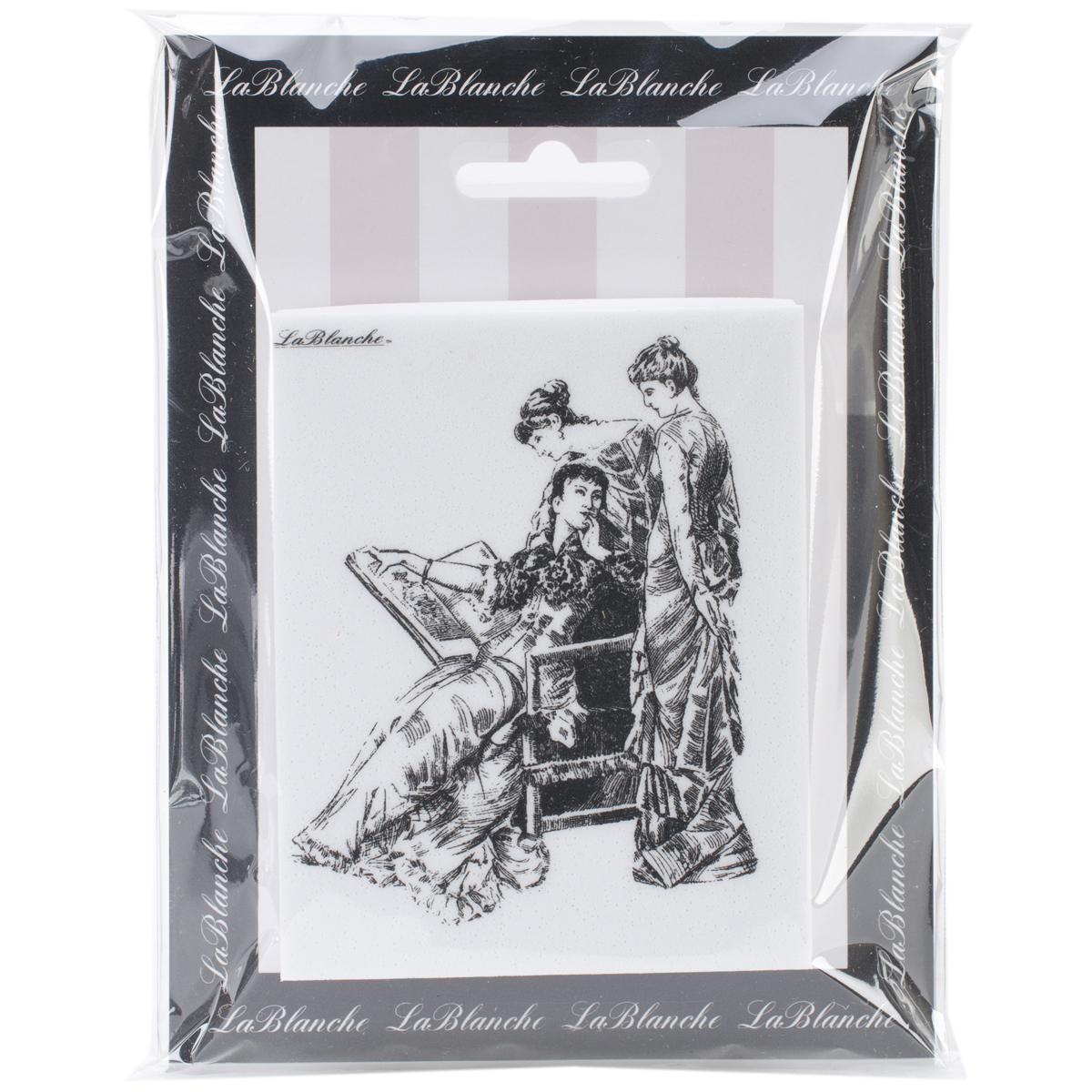 "LaBlanche Silicone Stamp 3""X4""-Three Ladies"