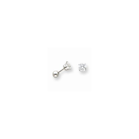 14K Yellow Or White Gold Madi K  Polished Reversible Cz   Ball Earrings