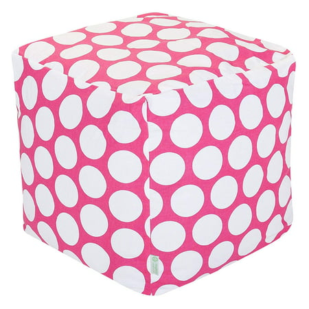 Majestic Home Goods Large Polka Dot Indoor Ottoman Pouf Cube ()