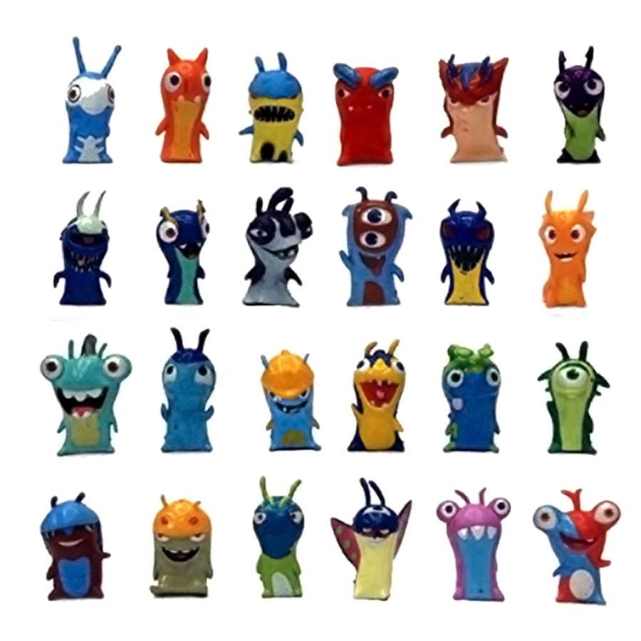 24 PCS Slugterra Elemental Slugs Terra PVC Action Figures Decoration Toys