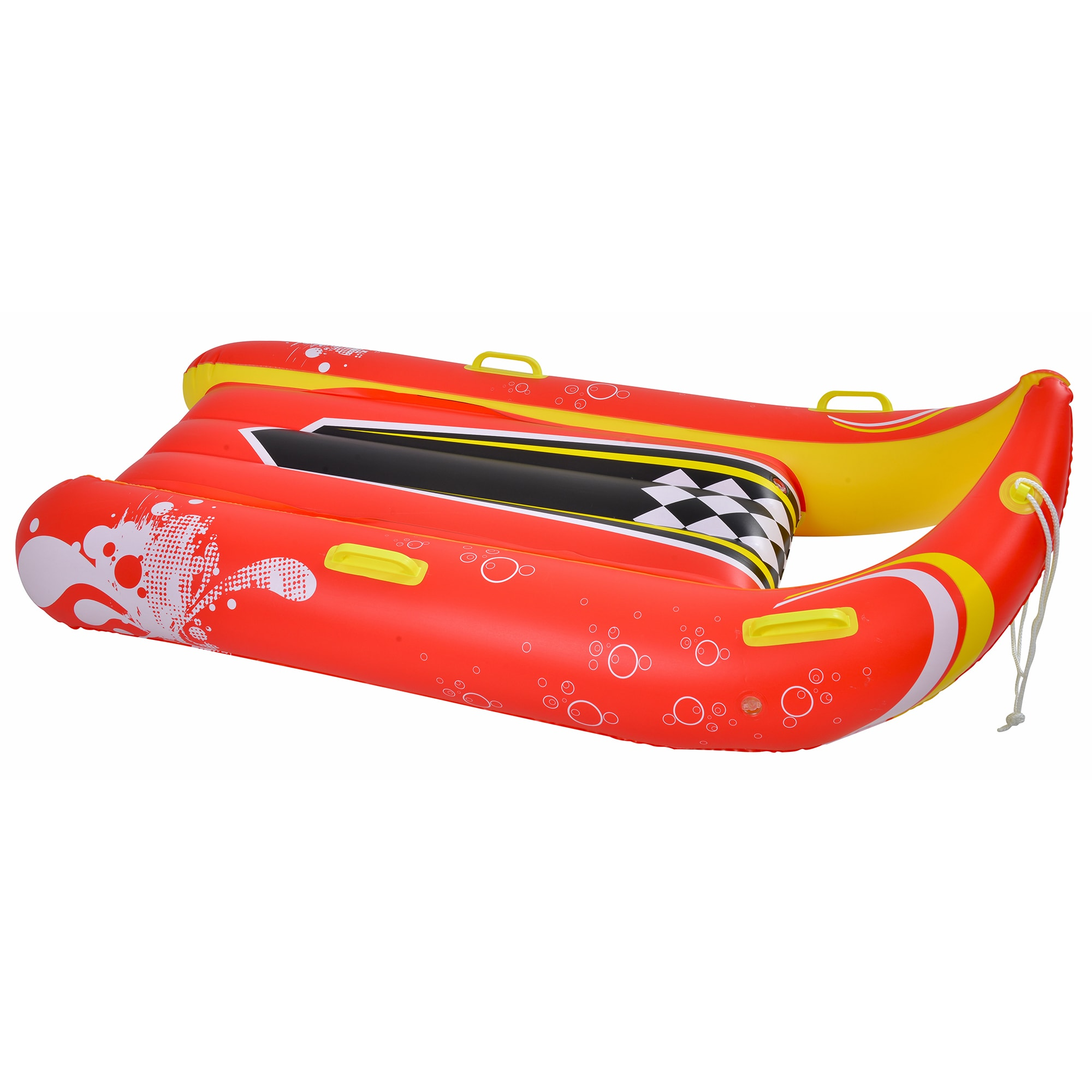 Blue Wave Sports Power Glider 57-inch 2-person Inflatable Snow Sled