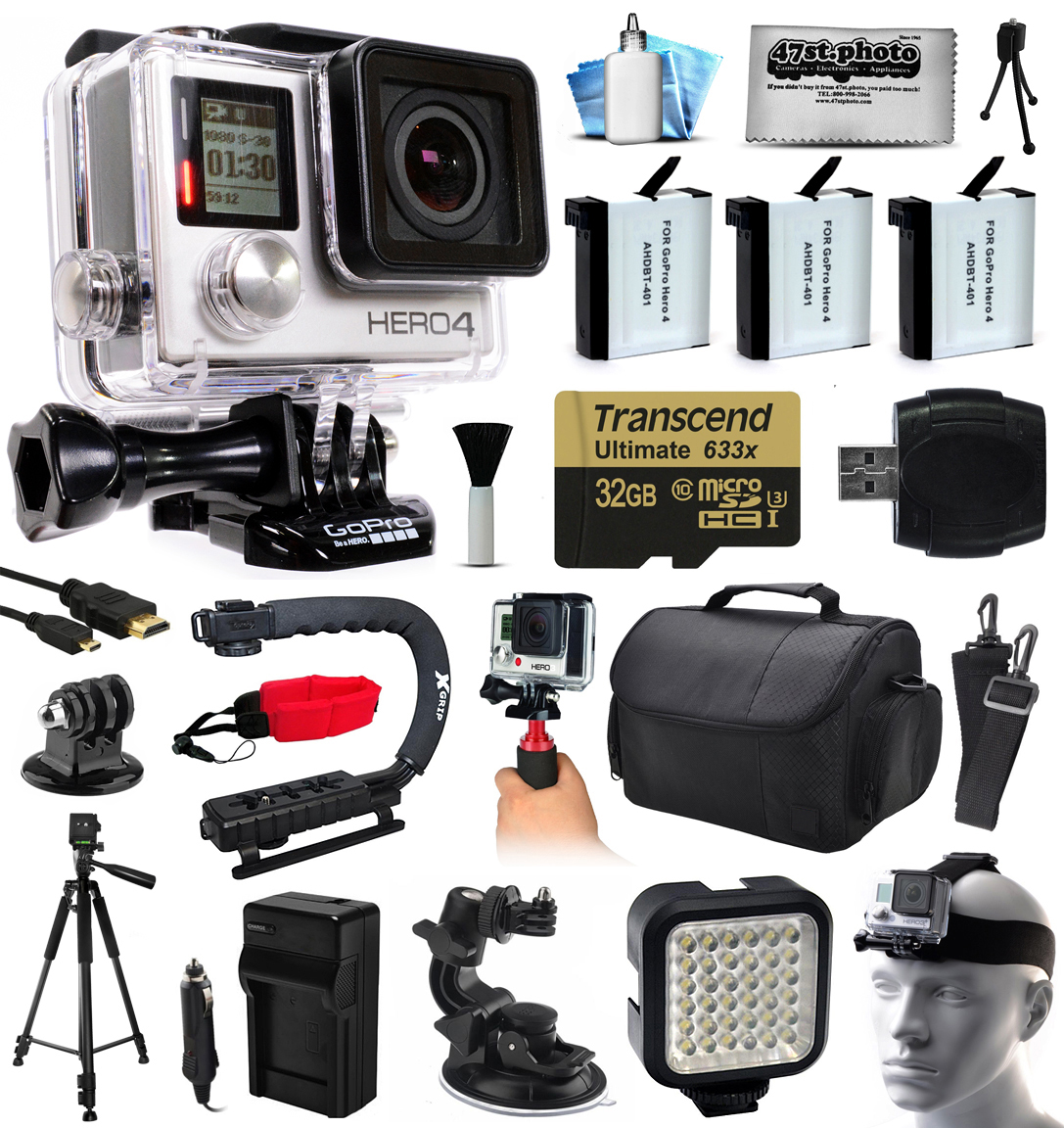 GoPro HERO4 Hero 4 Silver Edition Action Camera with 32GB...