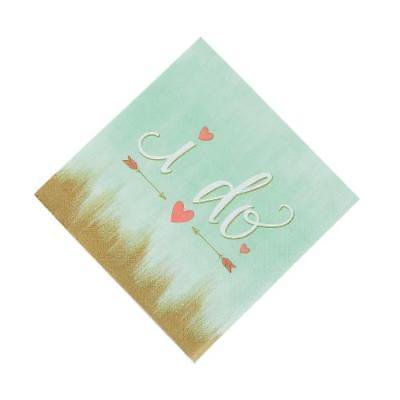 IN-13770346 Mint I Do Paper Luncheon Napkins 16 Piece(s) 2PK