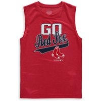 MLB Boston RED SOX TEE Sleeveless Boys Fashion Jersey Tee 100% Polyester Quick Dry Alternate Color Team Tee 4-18