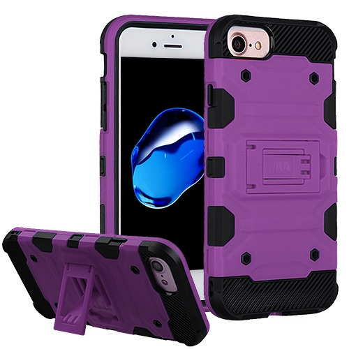 MUNDAZE Purple Defense Double Layered Case For Apple iPhone 7 Phone