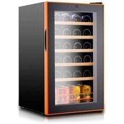 HSD Beverage Refrigerator and Cooler - Mini Fridge with Glass Door for Soda Beer or Wine - Small Drink HSD penser Machine for Office or Bar