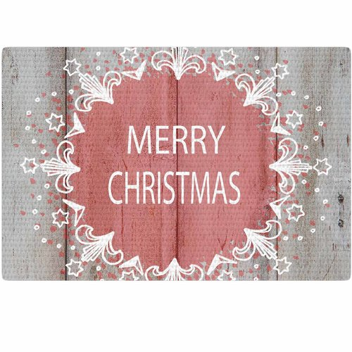 East Urban Home Suzanne Carter Merry Christmas Holiday Typography Pink/Natural Area Rug