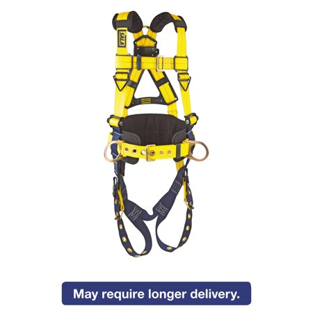 DBI-SALA Full-Body Harness, Tongue Buckles, Side/Back D-Rings, X-Large, 420lb Capacity