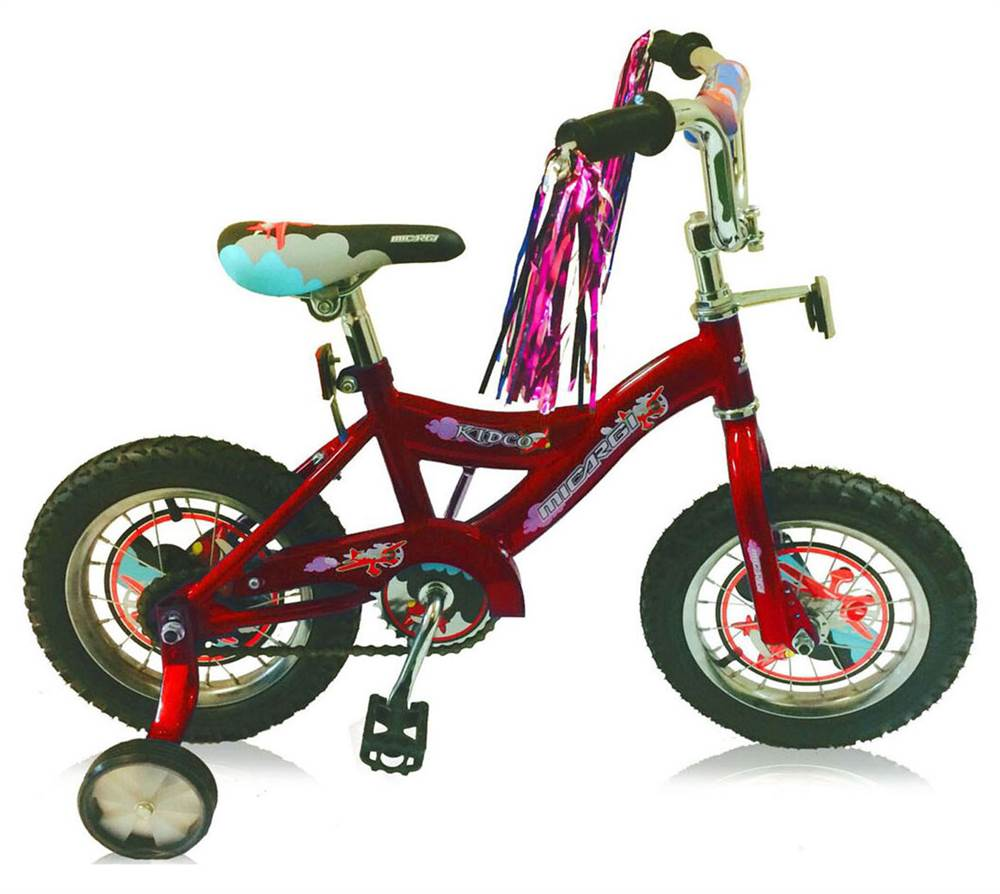 12 in. Bicycle in Red Finish by Micargi Industries