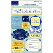 KAREN FOSTER Cardstock Stickers-My Baptism Day