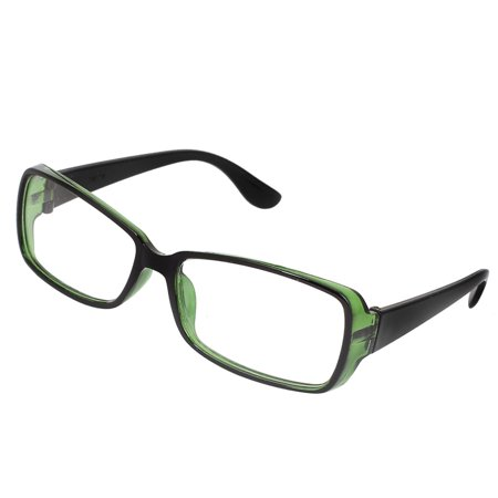 Women Plastic Rectangle Optic Full Rim Clear Lens Plain Glasses Black (Optic Glasses Online)