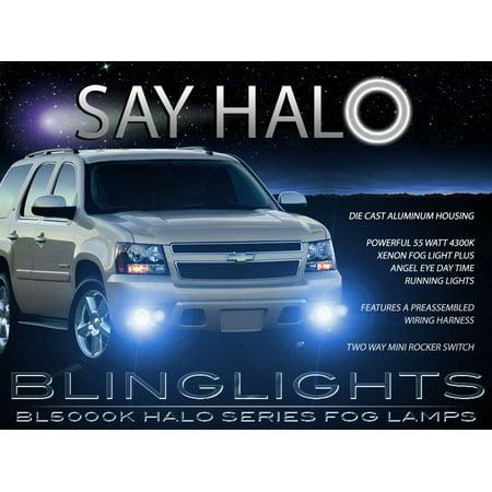 2007-2013 Chevy Avalanche Halo Fog Lamp Driving Light Kit Angel Eyes (Halo Fog Light Kit)