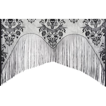 Lace Damask Curtain Halloween Decoration