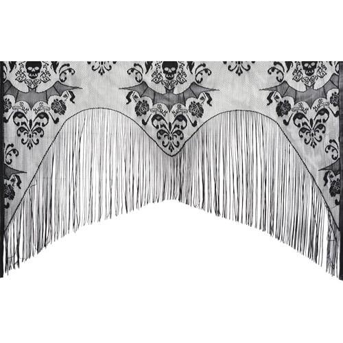 Lace Damask Curtain Halloween Decoration