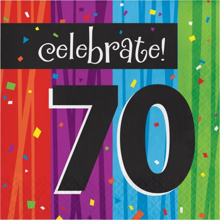 Party Creations Milestone Celebrations 70th Birthday Lunch Napkins, 16 Ct