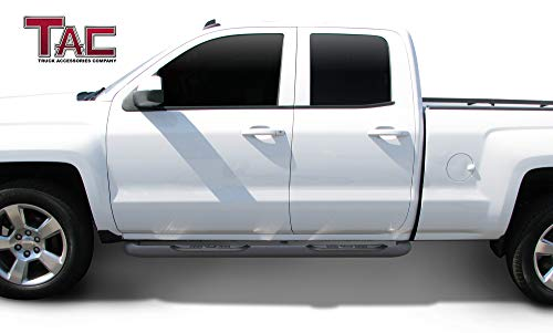 "For 1999-2018 Chevy Silverado//GMC Sierra 1500 Regular Cab 3/"" Texture Side Steps"