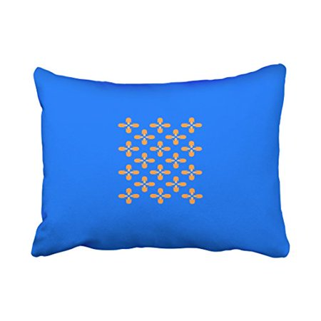 Winhome Decorative Pillowcases Royal Blue And Pumpkin Throw Pillow Covers Cases Cushion Cover Case Sofa 20x30
