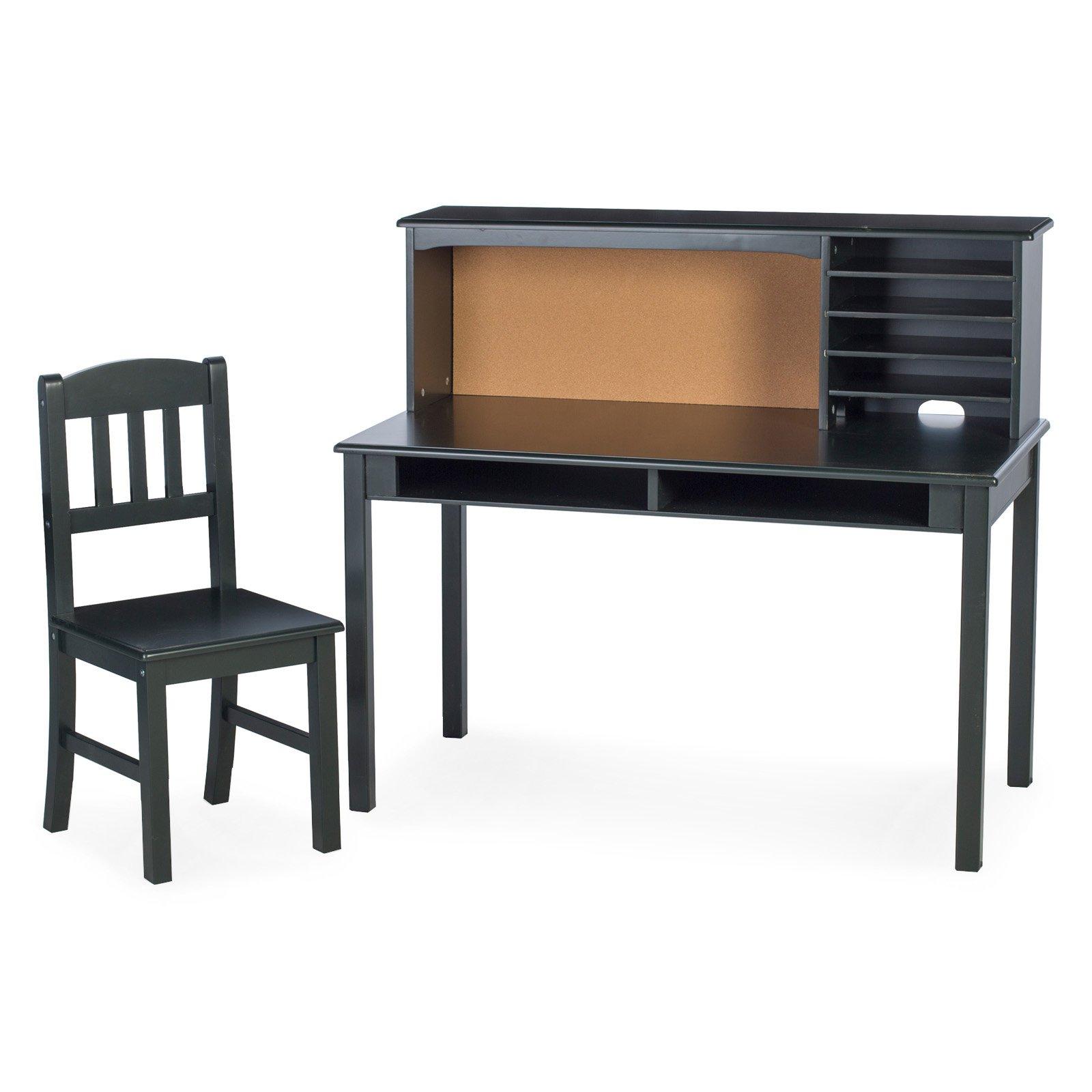 Guidecraft Kids Media Writing Desk & Chair Set - Black