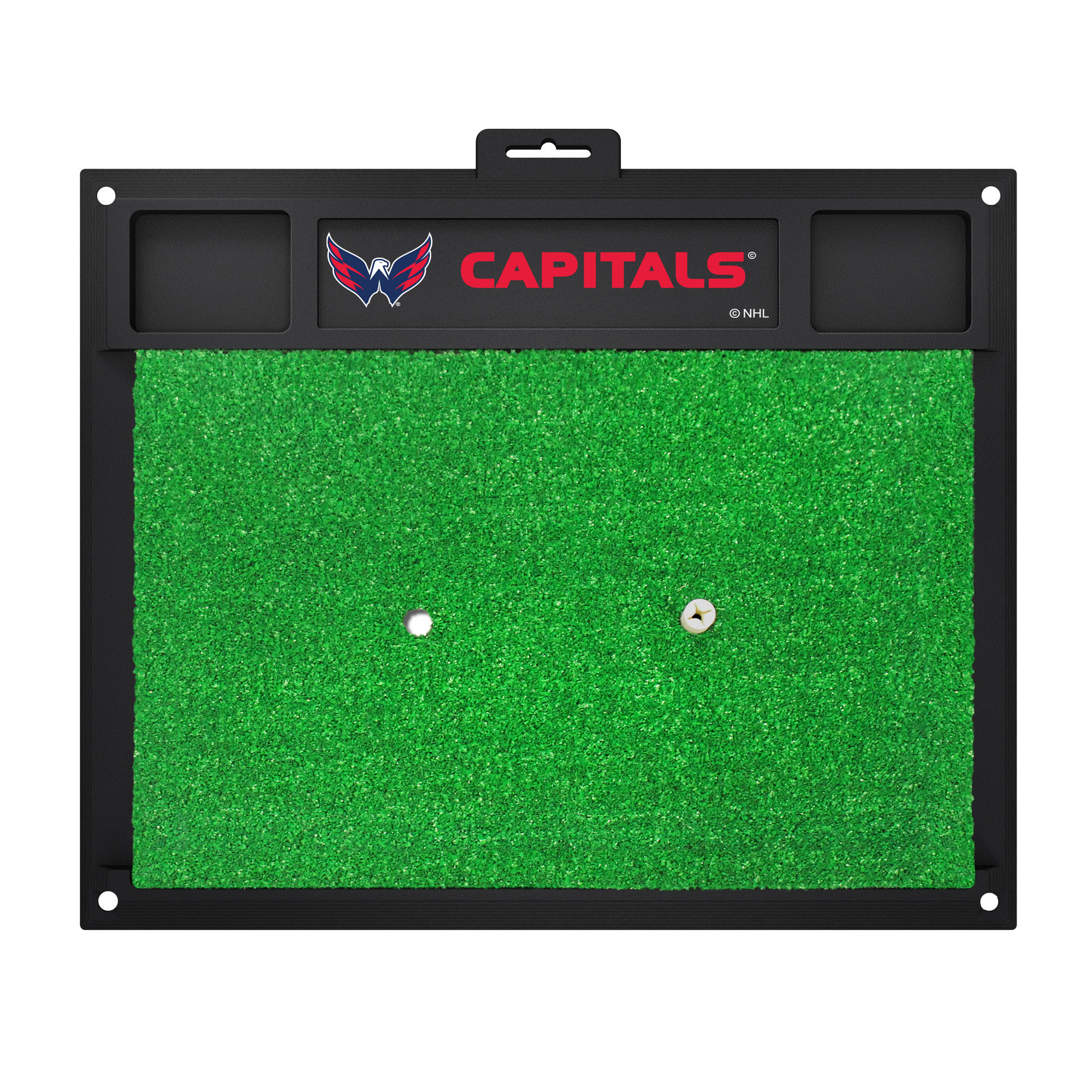 NHL Washington Capitals Golf Hitting Mat Golf Practice Accessory