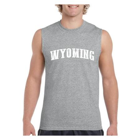 ab0cbb93f8acb Wyoming American States Novelty Mens Sleeveless Shirts - Walmart.com