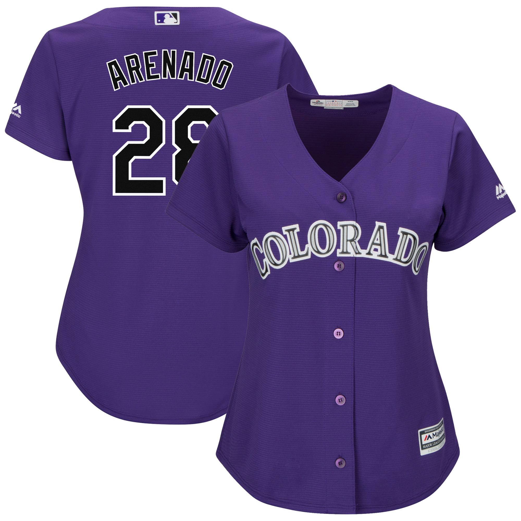 Nolan Arenado Colorado Rockies Majestic Women's Alternate Cool Base Player Replica Jersey - Purple