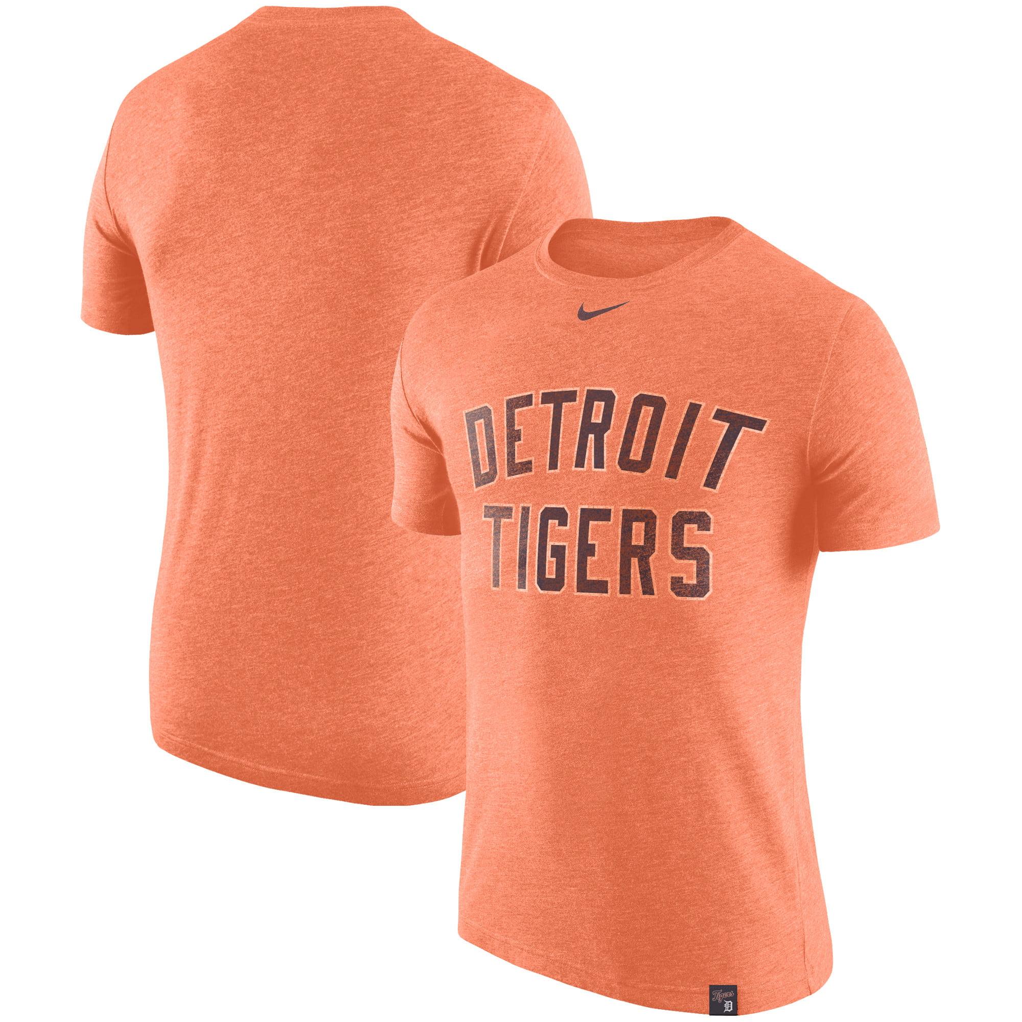 Detroit Tigers Nike Tri-Blend DNA Performance T-Shirt - Heathered Orange
