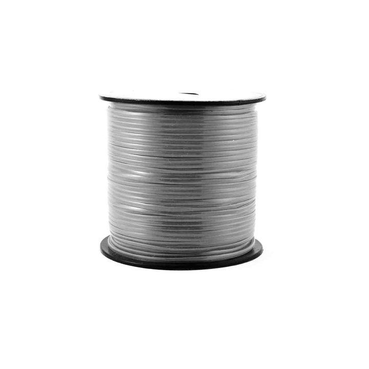Solid Metallic Silver Plastic Craft Lace Lanyard Gimp String Bulk 50 Yard Roll