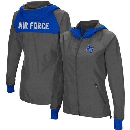 Air Force Falcons Colosseum Backside Hooded Full-Zip Windbreaker Jacket - - Cortech Gx Air Jacket