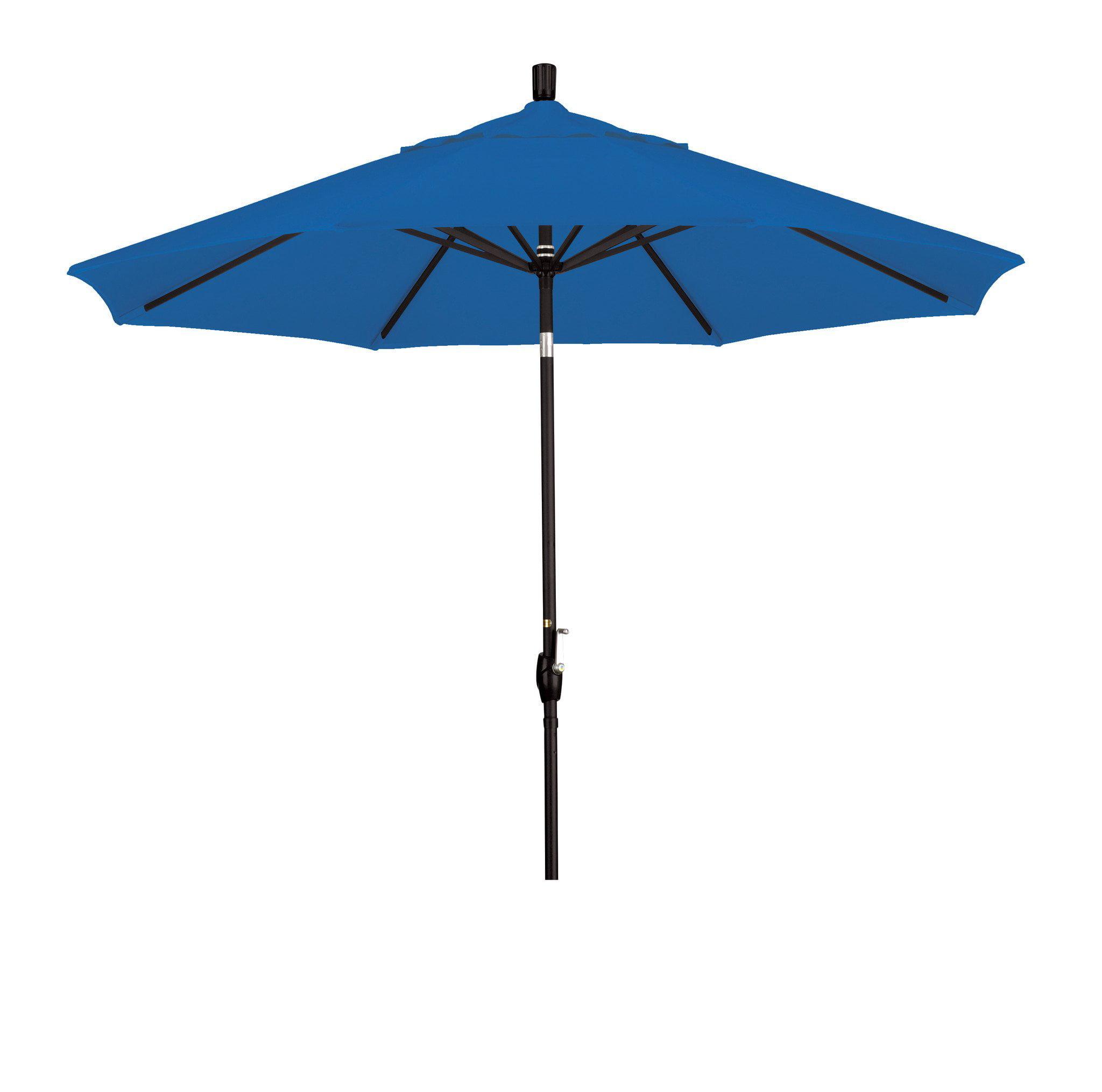 Eclipse Collection 9 Aluminum Market Umbrella Push Tilt - M Black/Pacifica/Pacific Blue
