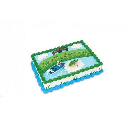 Wal mart bakery field and stream bass fishing cake kit for Field and stream fishing shirts