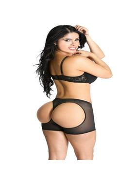 ce1394e43 Product Image Smok69 Butt Lifting Boy Booty Panty Waist Cincher Boyshort  Bum Black 2 Pack Kit S