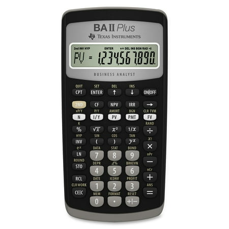 BA II Plus Financial CalculatorTime-value-of-money and Amortization keys solve problems including: pension calculations, loans, mortgages, etc. By Texas Instruments ()