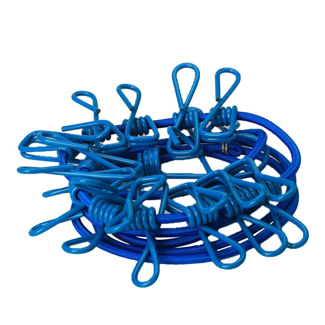 Home Stretchy Wind-proof Laundry Clothes Clothesline Rope Line String w 12 Clips